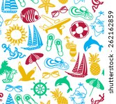 seamless pattern of colored... | Shutterstock .eps vector #262162859