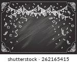 hand drawn confetti on... | Shutterstock .eps vector #262165415