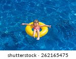young happy child girl having... | Shutterstock . vector #262165475