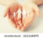man hands showing family of... | Shutterstock . vector #262168895