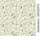 Cute Doodle Seamless Pattern...