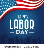 labor day card design  vector... | Shutterstock .eps vector #262195481
