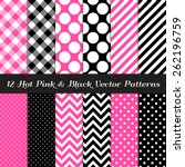 Hot Pink  Black And White...