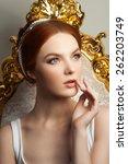beauty portrait of young women... | Shutterstock . vector #262203749