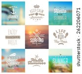 vector set of travel and... | Shutterstock .eps vector #262206071