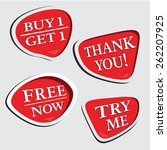 thank you try me  free now  buy ... | Shutterstock .eps vector #262207925