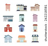 real estate design  vector... | Shutterstock .eps vector #262218581
