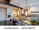 modern  bright  clean  kitchen... | Shutterstock . vector #262220075