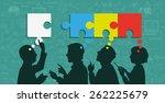 mind map team   vector...   Shutterstock .eps vector #262225679