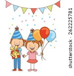 happy birthday design  vector... | Shutterstock .eps vector #262225781