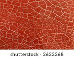 Abstract red background.  A boat hull with red paint and white cracked lines. - stock photo