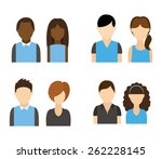 users icon design  vector... | Shutterstock .eps vector #262228145