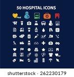 50 hospital  medicine icons ...   Shutterstock .eps vector #262230179