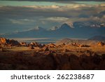 desert sunset after a storm | Shutterstock . vector #262238687