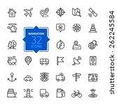 outline web icons set  ... | Shutterstock .eps vector #262245584