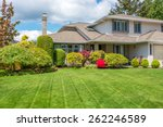 Luxury House With Freshly Mown...