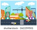 vector nice city under... | Shutterstock .eps vector #262259501