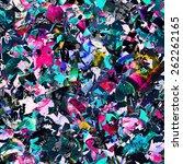 seamless psychedelic raster...   Shutterstock . vector #262262165