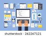 programming and coding  website ... | Shutterstock .eps vector #262267121