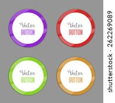 vector color circle buttons. | Shutterstock .eps vector #262269089