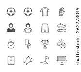 soccer icons | Shutterstock .eps vector #262273049