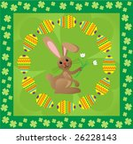 easter background with bunny... | Shutterstock . vector #26228143