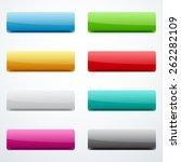 set o buttons  | Shutterstock .eps vector #262282109