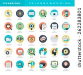 set of flat design icons for... | Shutterstock .eps vector #262283801