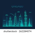 Chicago City Skyline Detailed...