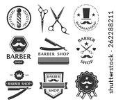 barber shop logo  labels ... | Shutterstock . vector #262288211
