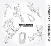 Illustration Of  Mountaineerin...