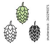 hop craft beer sign symbol... | Shutterstock . vector #262290371