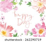 watercolor greeting card... | Shutterstock .eps vector #262290719