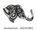 the stylized head of an... | Shutterstock .eps vector #262292891