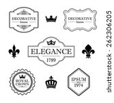 set of calligraphic flourish...   Shutterstock .eps vector #262306205