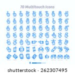 70 multitouch gesture icons  | Shutterstock .eps vector #262307495
