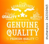 set of  retro premium quality... | Shutterstock .eps vector #262310465