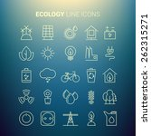 white line ecology icons....   Shutterstock .eps vector #262315271