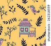 doodle seamless pattern  enjoy... | Shutterstock .eps vector #262318559