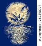 reflected in the ocean full... | Shutterstock .eps vector #262340774