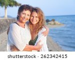 mother and adult daughter on... | Shutterstock . vector #262342415