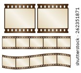 Vector Retro Film Strips  ...