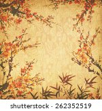 Plum Blossom And Bamboo On Old...