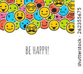 background with color emoticons ... | Shutterstock .eps vector #262355675