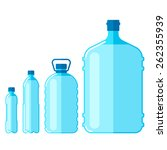 vector set of plastic bottles... | Shutterstock .eps vector #262355939