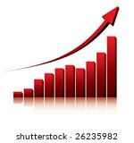 3d graph showing rise in... | Shutterstock .eps vector #26235982
