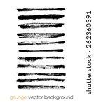 vector set of grunge brush... | Shutterstock .eps vector #262360391