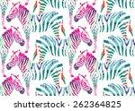 painting hand drawn animal... | Shutterstock .eps vector #262364825