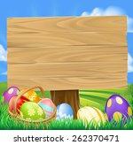 Easter Egg Hunt Cartoon Sign...