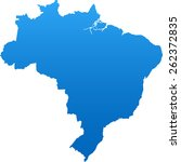 brazil map | Shutterstock .eps vector #262372835